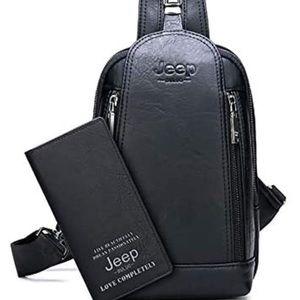 0817 JEEP BULUO Sling Bag Crossbody Backpack